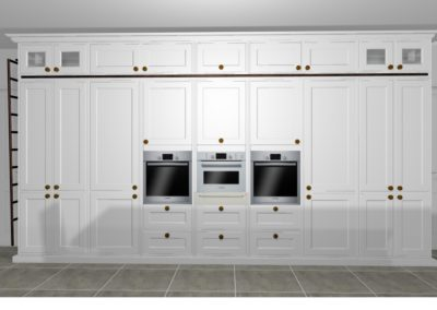Perspective Kitchen ovens, pantry and appliance store