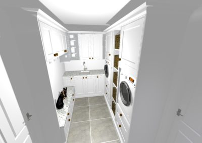 Perspective Utility room overview